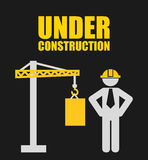 Construction design. Construction grafic design , vector illustration Royalty Free Stock Image