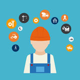 Construction design Royalty Free Stock Photography
