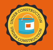 Construction design over orange background vector illustration Stock Photos