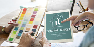 Construction Design Project Renovation Concept Royalty Free Stock Photos