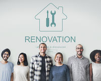 Construction Design Project Renovation Concept Royalty Free Stock Photo