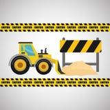 Construction design. truck icon. repair concept, vector illustration. Construction concept with icon design, vector illustration 10 eps graphic Royalty Free Stock Photos