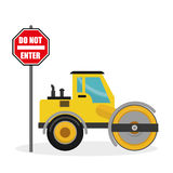Construction design. truck icon. repair concept, vector illustration. Construction concept with icon design, vector illustration 10 eps graphic Stock Photo