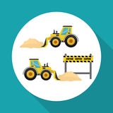 Construction design. truck icon. repair concept, vector illustration. Construction concept with icon design, vector illustration 10 eps graphic Royalty Free Stock Image