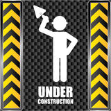 Construction design, vector illustration. Royalty Free Stock Images