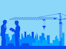 Construction. Designing of new area. Vector royalty free illustration