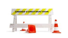construction dessous Photos stock