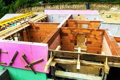 Construction of a detached house Stock Images