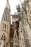 Construction Details on Barcelona Church Royalty Free Stock Images
