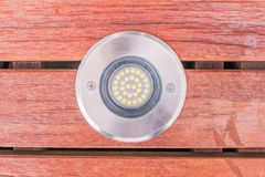 Free Construction Details : Closed Up View LED Uplight Installed On W Stock Photos - 77718373