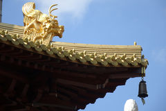 The construction details in Jingan Temple Stock Photography
