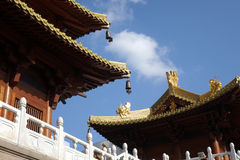 The construction details in Jingan Temple Royalty Free Stock Photography