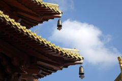 The construction details in Jingan Temple Royalty Free Stock Image