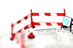 Construction dictionary sign cone barrier B Royalty Free Stock Photo