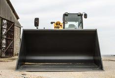 Construction digger loader front bucket Royalty Free Stock Photo