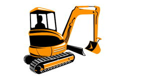 Construction Digger Mechanical Excavator stock video