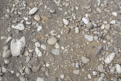 Construction dirt gravel rocks background Stock Images