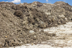 Construction dirt pile Royalty Free Stock Photo