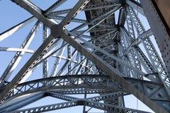 Construction of Dom Luis bridge in Porto, Portugal. Stock Image