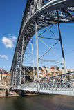Construction of Dom Luis bridge in Porto, Portugal. Royalty Free Stock Photo