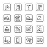 Construction Doodle Icons Royalty Free Stock Image