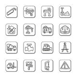 Construction Doodle Icons Stock Photo