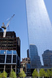 Construction in downtown Manhattan. New buildings keep going up in the reconstructed, revitalized section of downtown Manhattan around Ground Zero, where royalty free stock photo