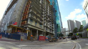 Construction Downtown Miami stock video footage