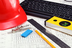 Construction drafts Royalty Free Stock Photos