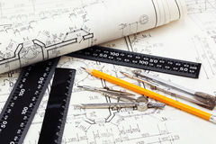 Construction drafts Royalty Free Stock Images