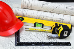 Construction drafts Stock Image