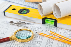 Construction drafts Stock Images