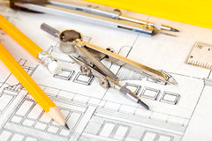 Construction drafts Stock Photography