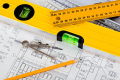Construction drafts Royalty Free Stock Photography
