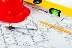 Construction drafts Royalty Free Stock Photo