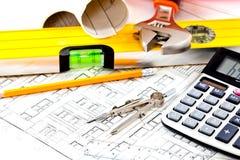 Construction drafts Stock Photo
