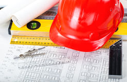 Construction drafts Royalty Free Stock Image