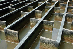 Construction of drainage water filtration Royalty Free Stock Images