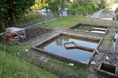 Construction of drainage water filtration Royalty Free Stock Photography