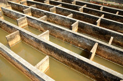 Construction of drainage water filtration Stock Photography