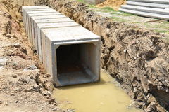 Construction drains large for road Stock Photography