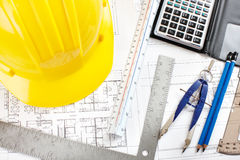 Construction drawing Royalty Free Stock Photo