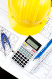 Construction drawing Stock Image