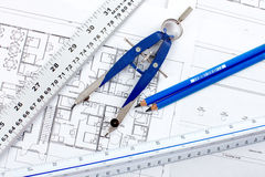 Construction drawing Royalty Free Stock Image