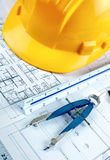 Construction drawing Stock Images