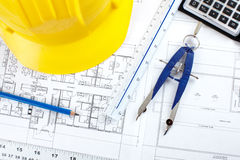 Construction drawing Stock Photo