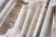 Construction drawing Royalty Free Stock Images