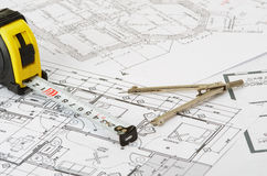 Construction drawing Royalty Free Stock Photos