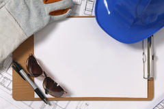 Construction drawing blueprints Royalty Free Stock Photo
