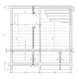 Construction drawing, ceiling structure Royalty Free Stock Image